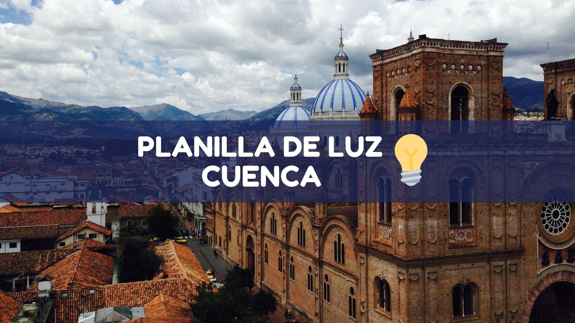 Planilla de luz Cuenca Ecuador