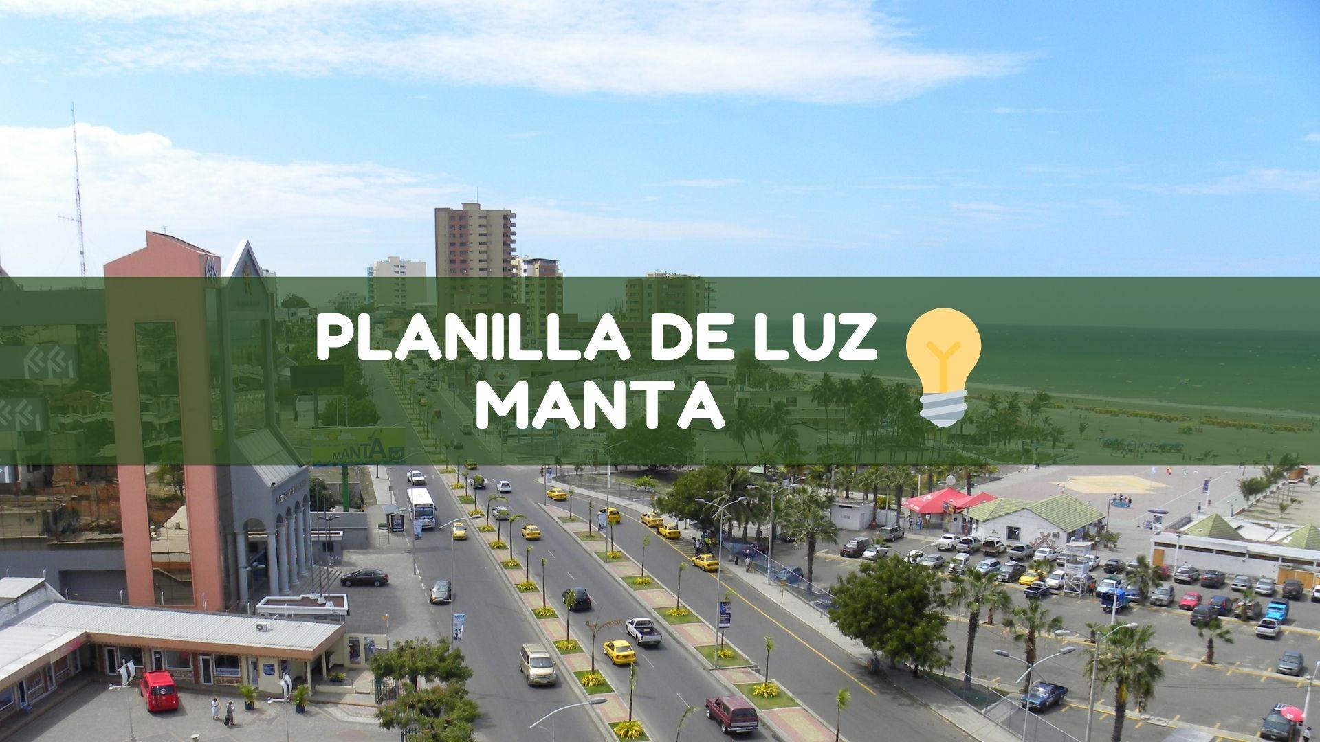 Planilla de luz Manta Ecuador