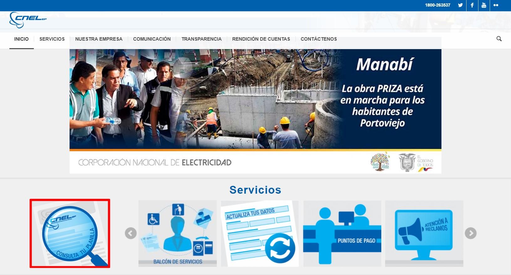 Planilla de luz Ecuador Manabí 25